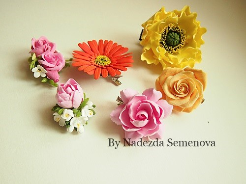 Цветы на зажимах