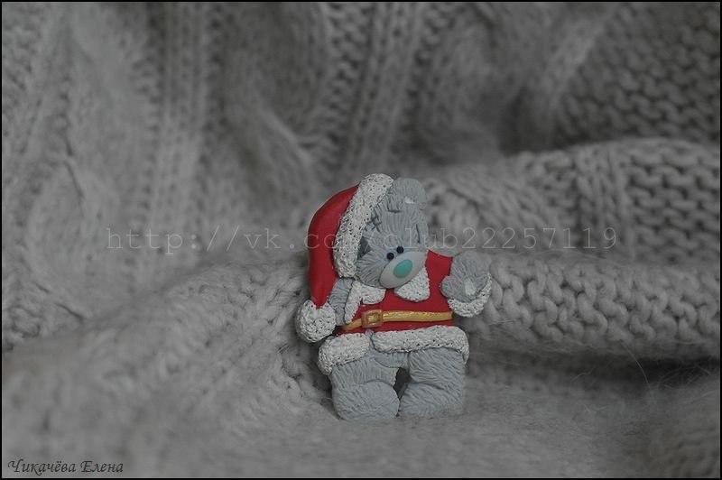 Мишка новогодний