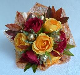 Осенний букет из конфет своими руками пошаговое фото для начинающих